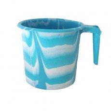 セネガル プラスチックコップ(1リットル ミズイロ×ホワイト)