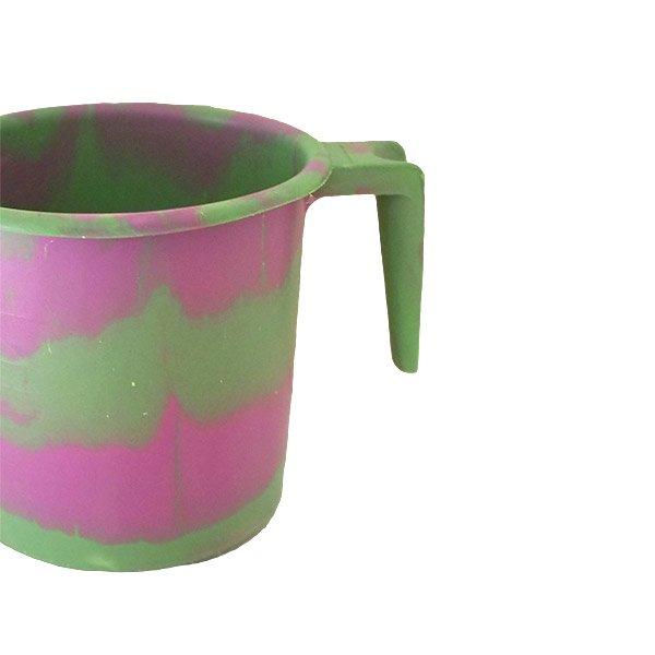 セネガル プラスチックコップ(1リットル グリーン×ピンク)【画像3】
