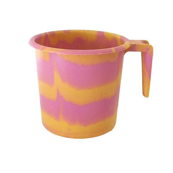 セネガル プラスチックコップ(1リットル ピンク×イエロー)