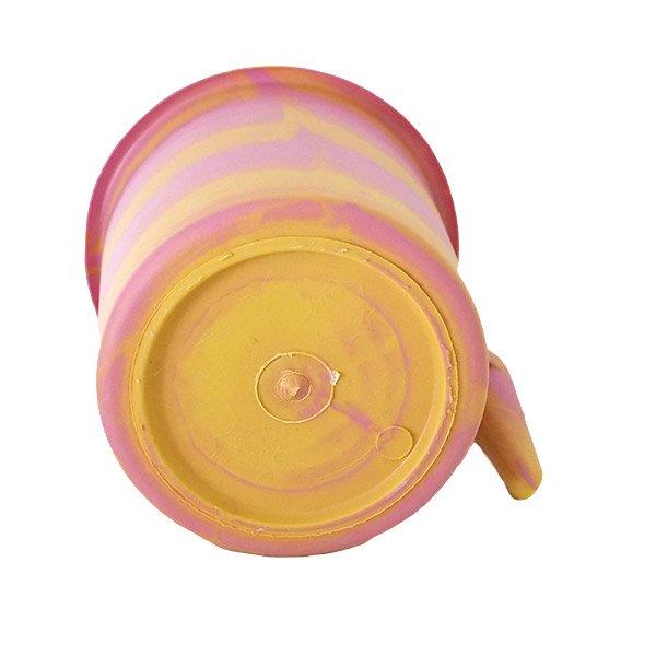 セネガル プラスチックコップ(1リットル ピンク×イエロー)【画像2】