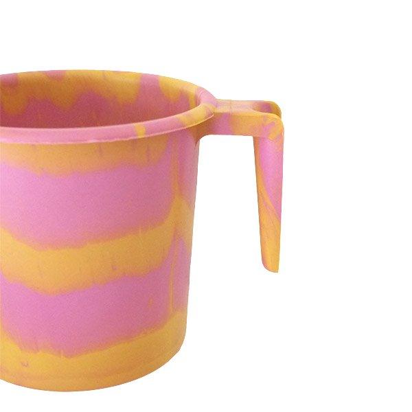 セネガル プラスチックコップ(1リットル ピンク×イエロー)【画像3】