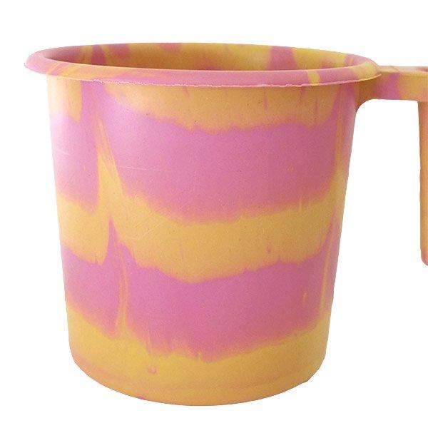 セネガル プラスチックコップ(1リットル ピンク×イエロー)【画像4】