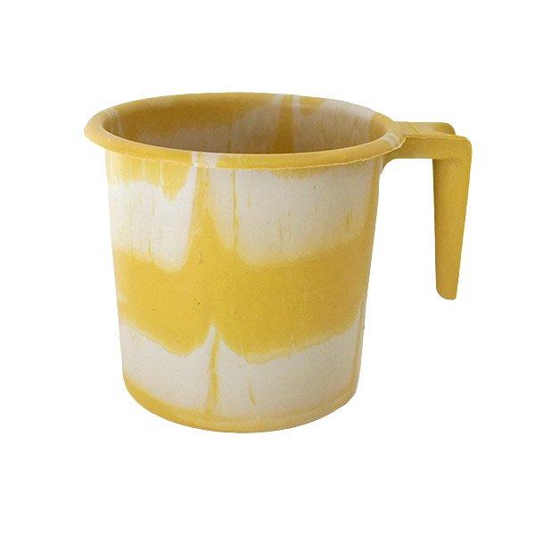 セネガル プラスチックコップ(1リットル イエロー×ホワイト)