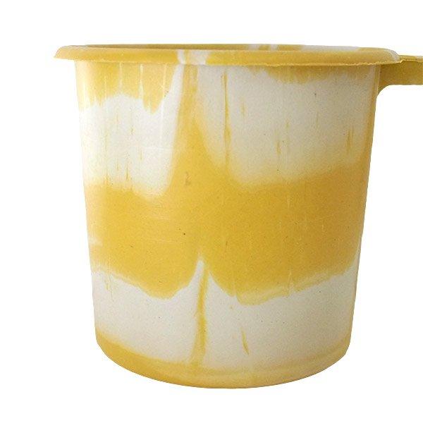 セネガル プラスチックコップ(1リットル イエロー×ホワイト)【画像4】