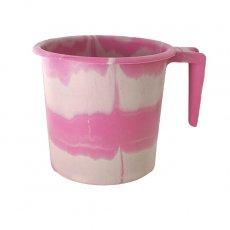 セネガル プラスチックコップ(1リットル ピンク×ホワイト)