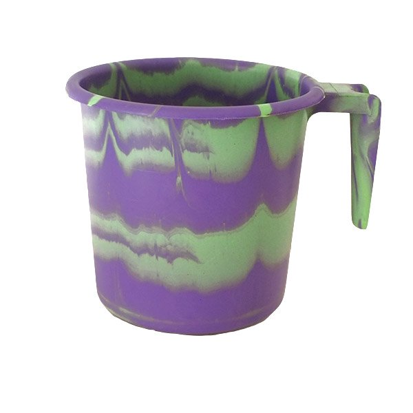 セネガル プラスチックコップ(1リットル パープル×グリーン)