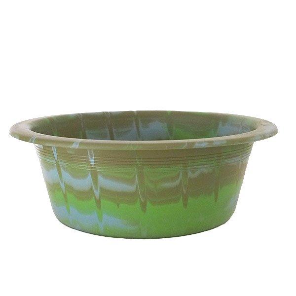 セネガル プラスチック 洗面器(直径 32cm グリーン×ブラウン)