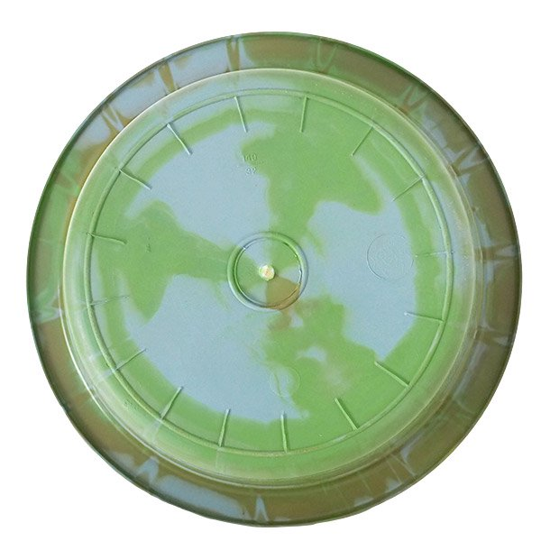 セネガル プラスチック 洗面器(直径 32cm グリーン×ブラウン)【画像2】