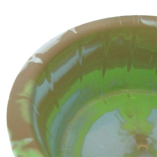 セネガル プラスチック 洗面器(直径 32cm グリーン×ブラウン)【画像3】