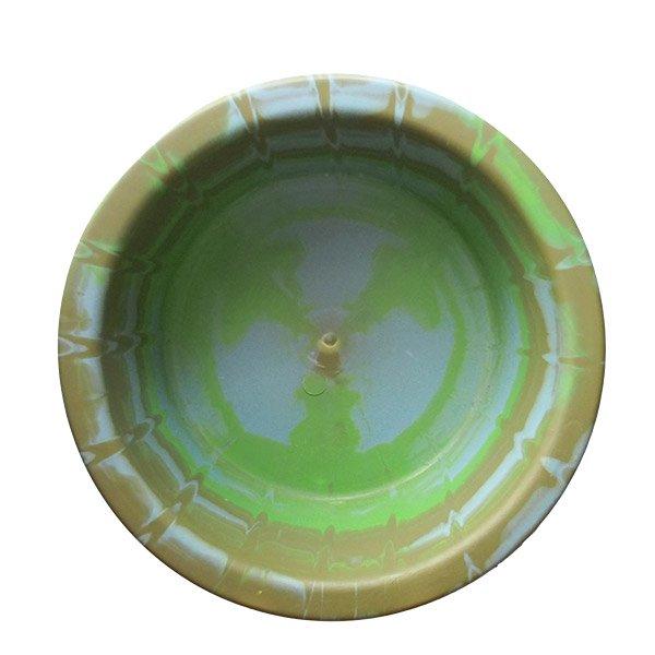 セネガル プラスチック 洗面器(直径 32cm グリーン×ブラウン)【画像5】