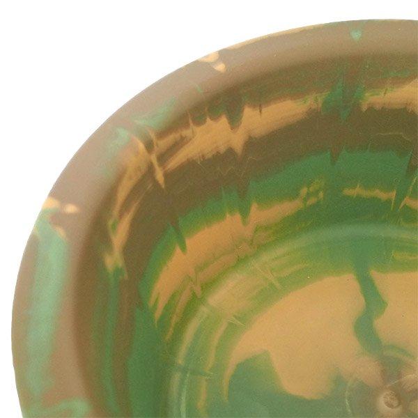 セネガル プラスチック 洗面器(直径 32cm ブラウン×グリーン)【画像3】