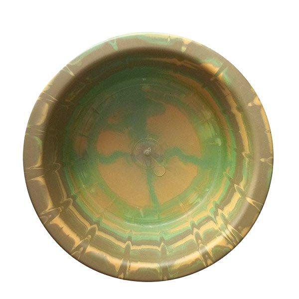セネガル プラスチック 洗面器(直径 32cm ブラウン×グリーン)【画像5】