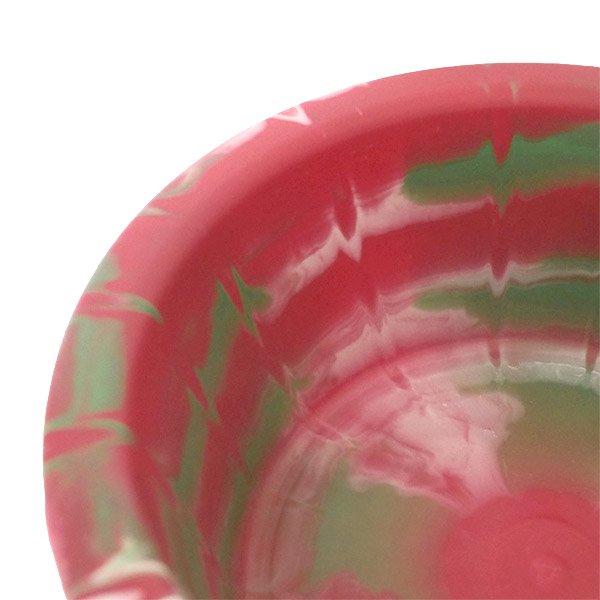 セネガル プラスチック 洗面器(直径 32cm レッド×グリーン)【画像3】