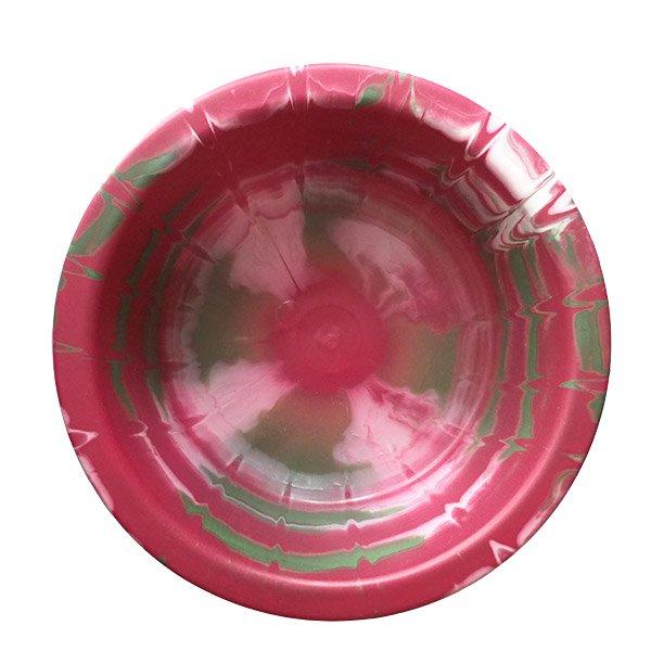 セネガル プラスチック 洗面器(直径 32cm レッド×グリーン)【画像5】