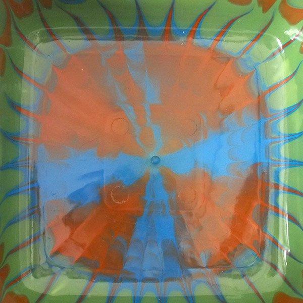 セネガル プラスチック 洗面器(四角 27cm グリーン×ブラウン)【画像4】