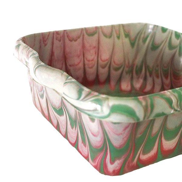 セネガル プラスチック 洗面器(四角 27cm レッド×グリーン×ホワイト)【画像3】