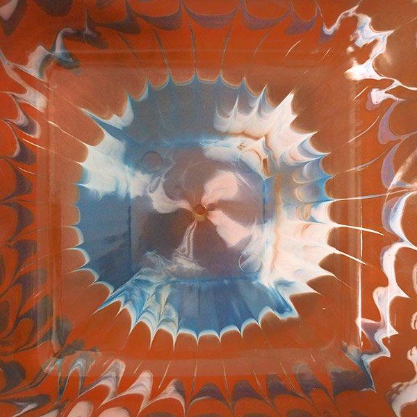 セネガル プラスチック 洗面器(四角 30cm ライトブラウン×グレー×ホワイト)【画像4】