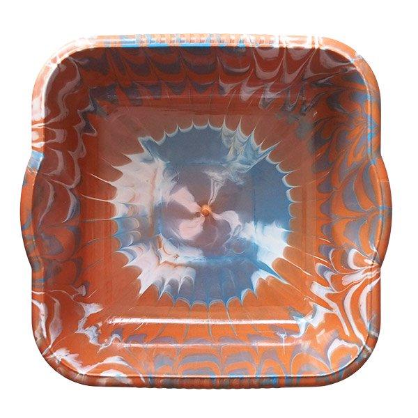 セネガル プラスチック 洗面器(四角 30cm ライトブラウン×グレー×ホワイト)【画像5】