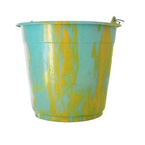 セネガル プラスチックバケツ(ブルー×イエロー 10リットル)