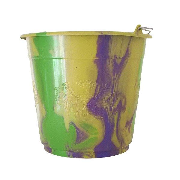 セネガル プラスチックバケツ(グリーン×パープル 10リットル)