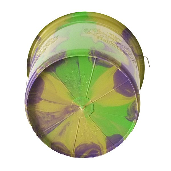 セネガル プラスチックバケツ(グリーン×パープル 10リットル)【画像2】