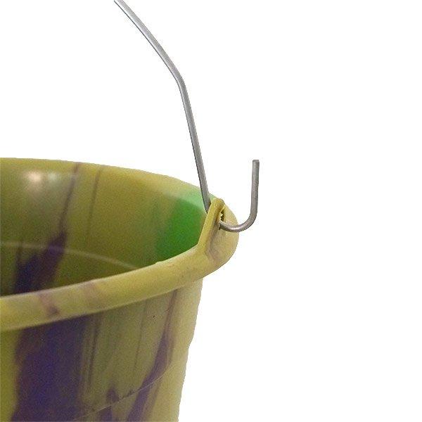 セネガル プラスチックバケツ(グリーン×パープル 10リットル)【画像4】