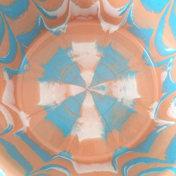 セネガル プラスチック持ち手付きの桶(薄めブラウン×ブルー  15リットル)【画像4】