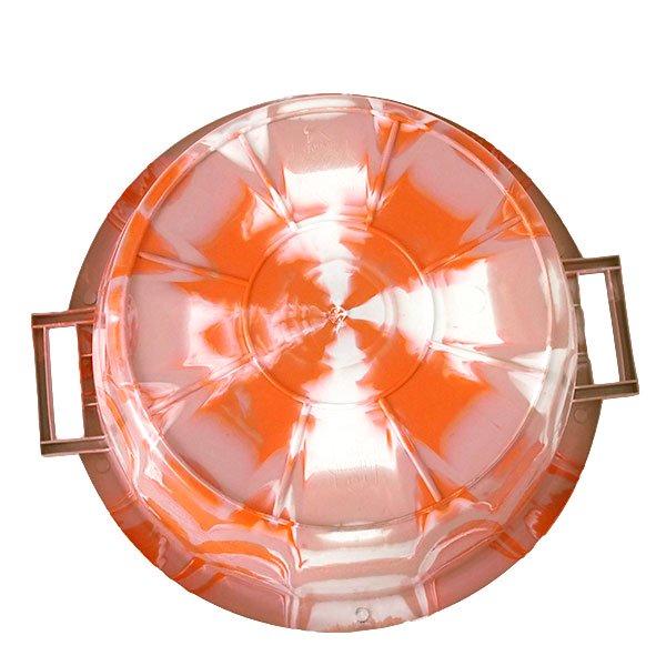 セネガル プラスチック持ち手付きの桶(薄めブラウン×オレンジ  15リットル)【画像2】