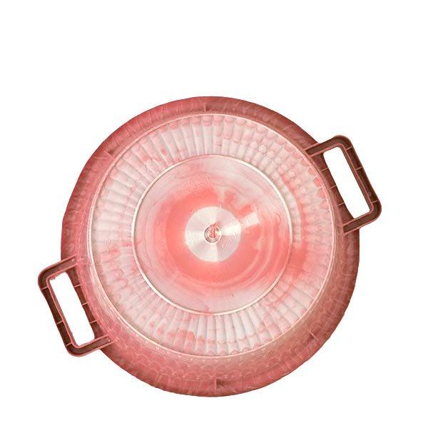 セネガル プラスチック持ち手付きの桶(レッド 12リットル)【画像2】