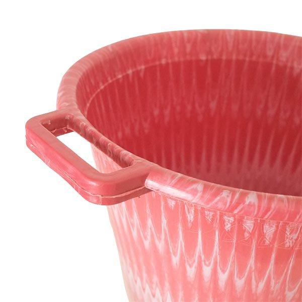 セネガル プラスチック持ち手付きの桶(レッド 12リットル)【画像3】