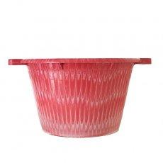 セネガル プラスチック持ち手付きの桶(レッド 12リットル)