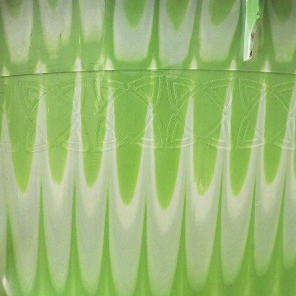 セネガル プラスチック持ち手付きの桶(グリーン×ホワイト  12リットル)【画像5】