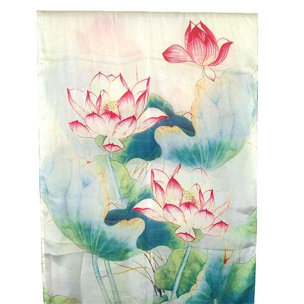 ベトナム  蓮(ロータス)シルク スカーフ