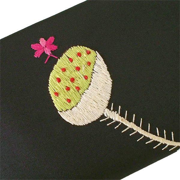 ベトナム 蓮 ロータス 刺繍 長財布(ブラック)【画像5】