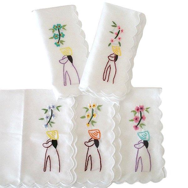 ベトナム刺繍ハンカチ