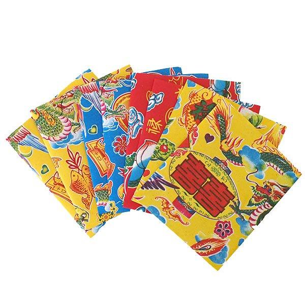ベトナム 包装紙 縁起の良い柄  小袋  8枚セット