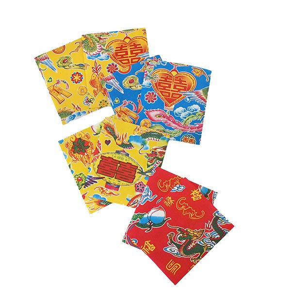 ベトナム 包装紙 縁起の良い柄  小袋  8枚セット【画像2】