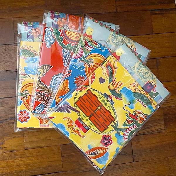 ベトナム 包装紙 縁起の良い柄  小袋  8枚セット【画像6】