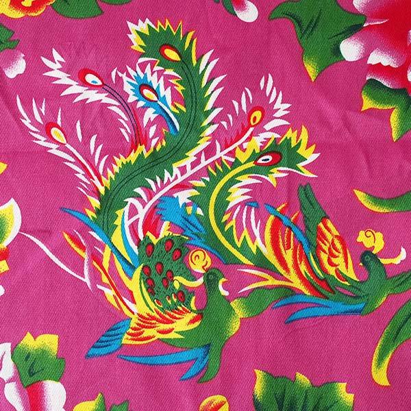 ベトナム 鳳凰と牡丹 カットオフ 幅約158/ 1m (ピンク)【画像2】