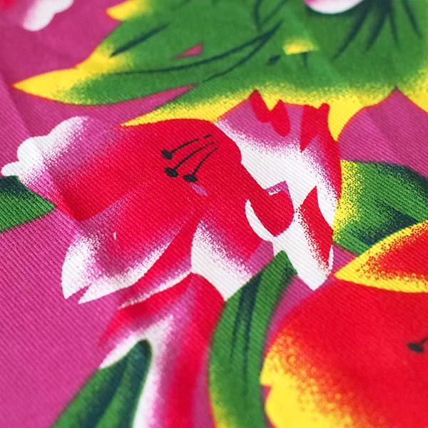 ベトナム 鳳凰と牡丹 カットオフ 幅約158/ 1m (ピンク)【画像4】