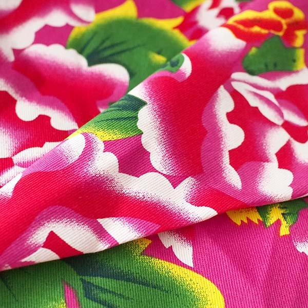 ベトナム 鳳凰と牡丹 カットオフ 幅約158/ 1m (ピンク)【画像5】
