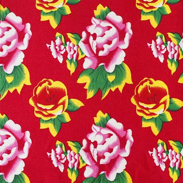 ベトナム 牡丹の花 カットオフ 幅約158/ 1m (レッド)【画像2】