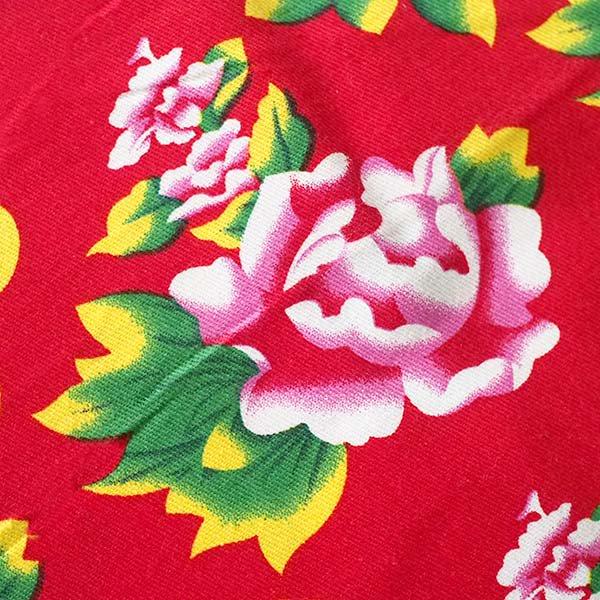 ベトナム 牡丹の花 カットオフ 幅約158/ 1m (レッド)【画像4】