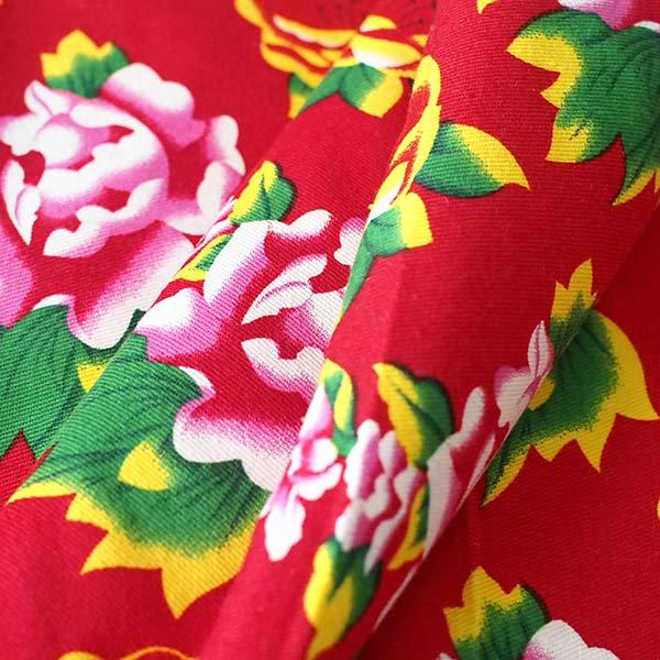ベトナム 牡丹の花 カットオフ 幅約158/ 1m (レッド)【画像5】
