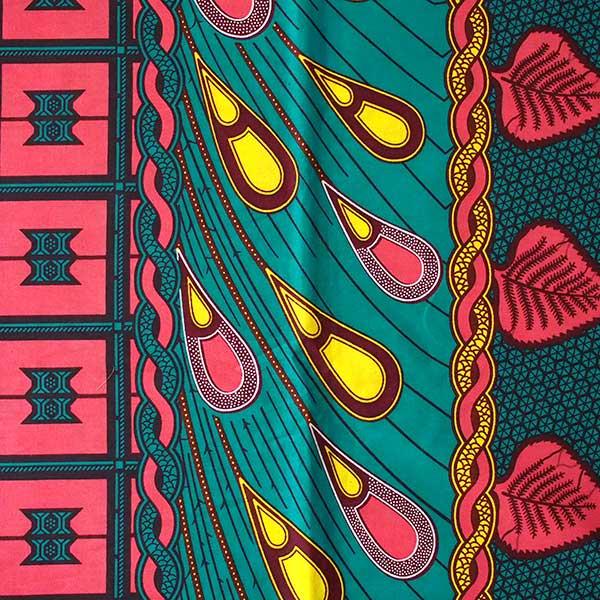 アフリカン プリント 布  115×90 カットオフ(カラフルな模様)【画像2】