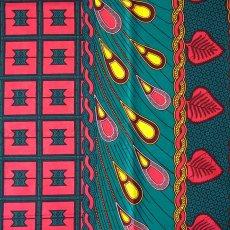 アフリカン プリント 布  115×90 カットオフ(カラフルな模様)