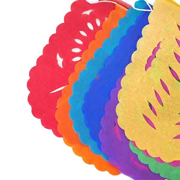 メキシコ ガーランド パペルピカド (花と模様)  11×8cm  【画像2】