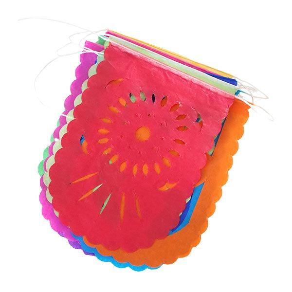 メキシコ ガーランド パペルピカド (花と模様)  11×8cm  【画像3】