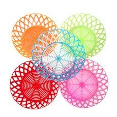 ベトナム カラフルなプラスチック ザル (5色)