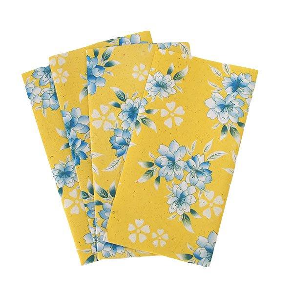 ベトナム 包装紙 花柄  小袋  4枚セット(単色)【画像2】